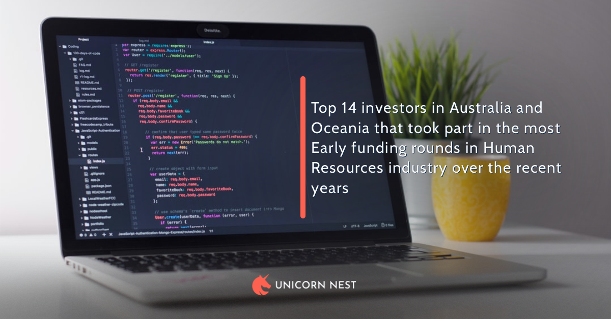 Top 14 investors in Australia and Oceania that took part in the most Early funding rounds in Human Resources industry over the recent years