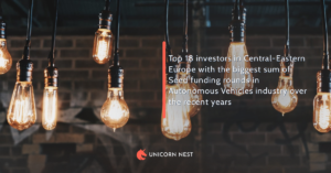 Top 18 investors in Central-Eastern Europe with the biggest sum of Seed funding rounds in Autonomous Vehicles industry over the recent years