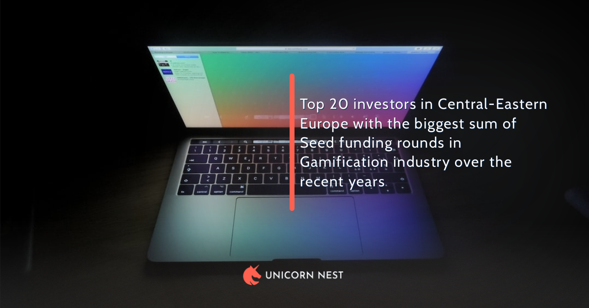 Top 20 investors in Central-Eastern Europe with the biggest sum of Seed funding rounds in Gamification industry over the recent years