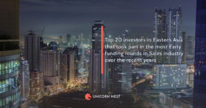 Top 20 investors in Eastern Asia that took part in the most Early funding rounds in Sales industry over the recent years