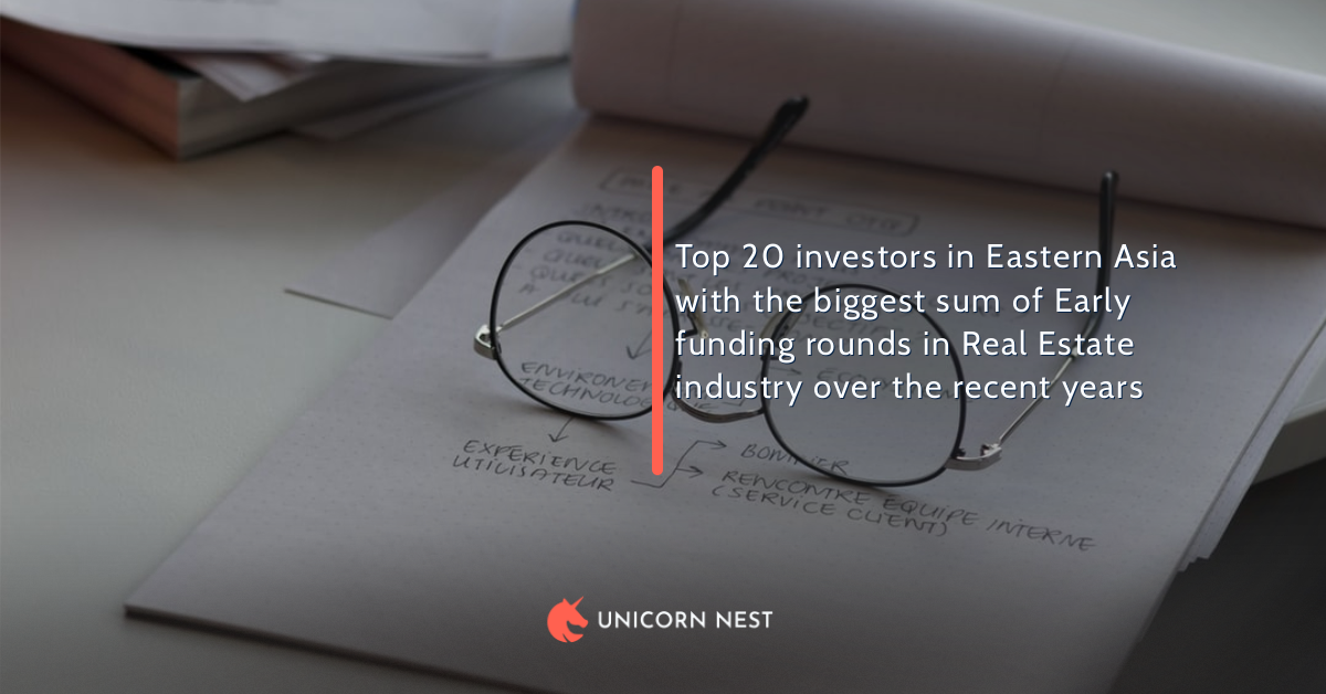 Top 20 investors in Eastern Asia with the biggest sum of Early funding rounds in Real Estate industry over the recent years
