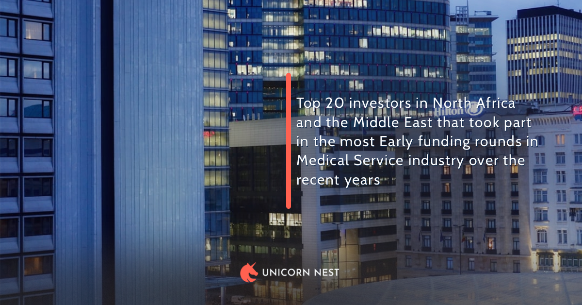 Top 20 investors in North Africa and the Middle East that took part in the most Early funding rounds in Medical Service industry over the recent years