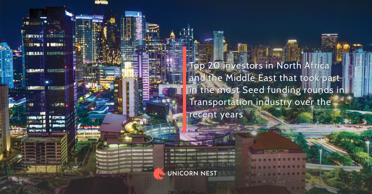 Top 20 investors in North Africa and the Middle East that took part in the most Seed funding rounds in Transportation industry over the recent years