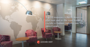 Top 20 investors in North America that took part in the most funding rounds in Fashion industry over the recent years
