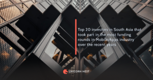 Top 20 investors in South Asia that took part in the most funding rounds in Mobile/Apps industry over the recent years