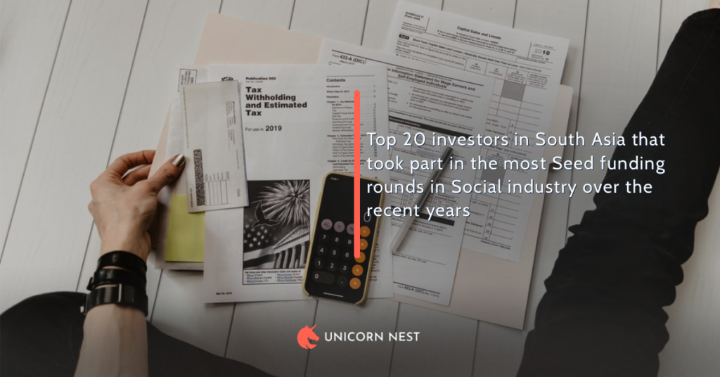 Top 20 investors in South Asia that took part in the most Seed funding rounds in Social industry over the recent years