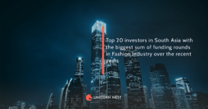 Top 20 investors in South Asia with the biggest sum of funding rounds in Fashion industry over the recent years