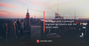 Top 20 investors in Western Europe that took part in the most Early funding rounds in Software Engineering industry over the recent years