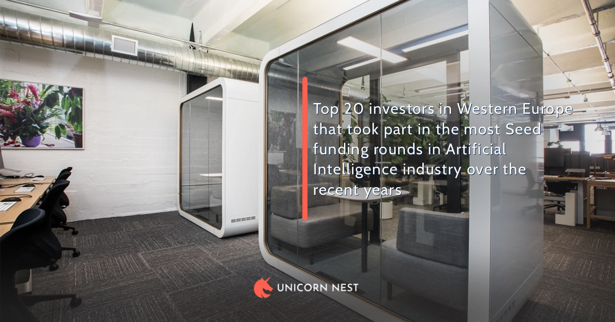 Top 20 investors in Western Europe that took part in the most Seed funding rounds in Artificial Intelligence industry over the recent years