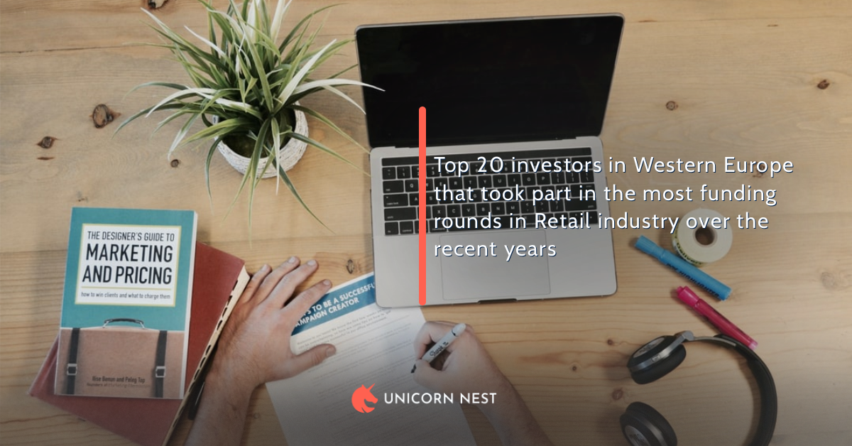 Top 20 investors in Western Europe that took part in the most funding rounds in Retail industry over the recent years
