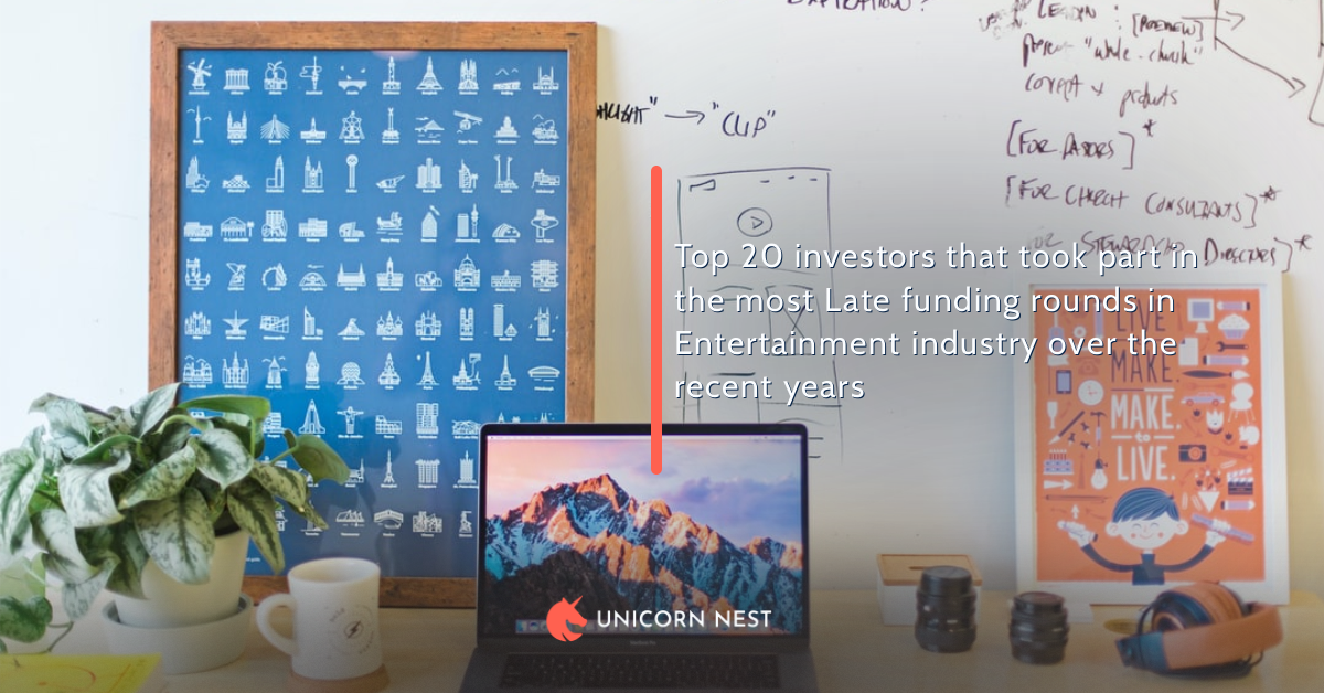 Top 20 investors that took part in the most Late funding rounds in Entertainment industry over the recent years