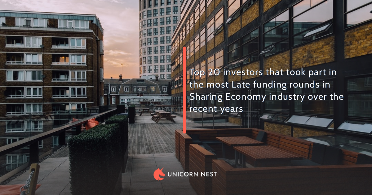 Top 20 investors that took part in the most Late funding rounds in Sharing Economy industry over the recent years