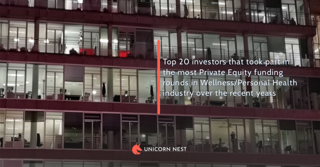 Top 20 investors that took part in the most Private Equity funding rounds in Wellness/Personal Health industry over the recent years
