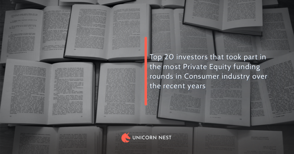 Top 20 investors that took part in the most Private Equity funding rounds in Consumer industry over the recent years
