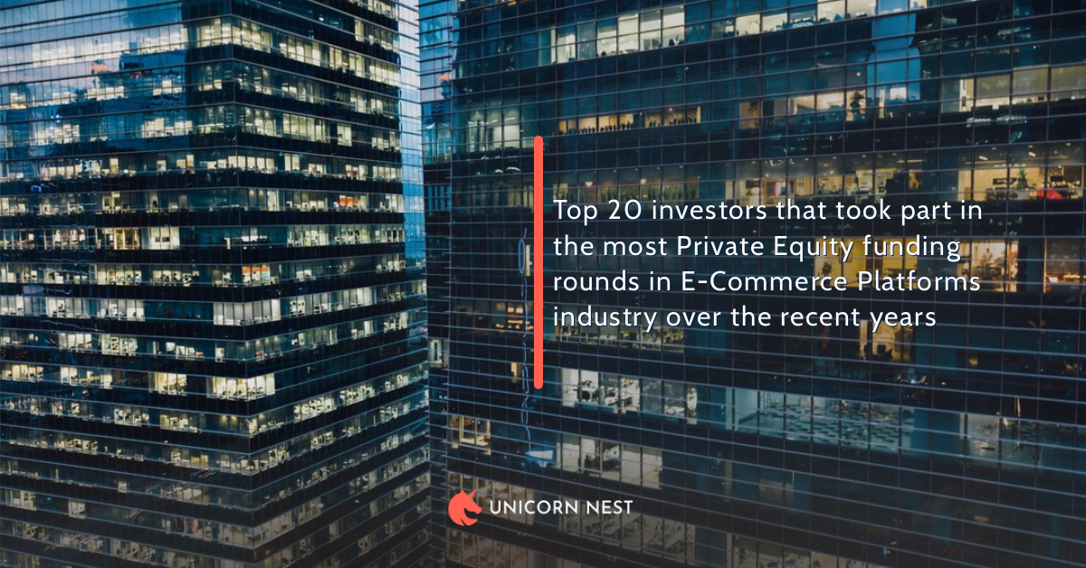 Top 20 investors that took part in the most Private Equity funding rounds in E-Commerce Platforms industry over the recent years