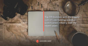 Top 20 investors with the biggest sum of Late funding rounds in Gamification industry over the recent years