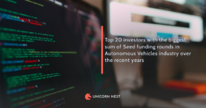 Top 20 investors with the biggest sum of Seed funding rounds in Autonomous Vehicles industry over the recent years