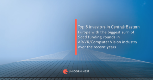 Top 8 investors in Central-Eastern Europe with the biggest sum of Seed funding rounds in AR/VR/Computer Vision industry over the recent years