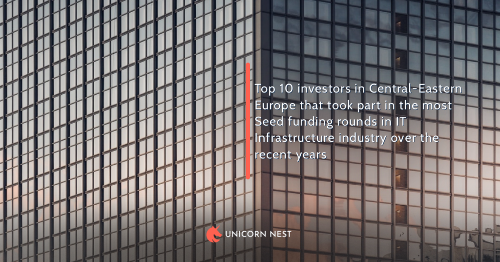 Top 10 investors in Central-Eastern Europe that took part in the most Seed funding rounds in IT Infrastructure industry over the recent years