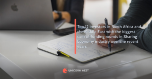 Top 12 investors in North Africa and the Middle East with the biggest sum of funding rounds in Sharing Economy industry over the recent years