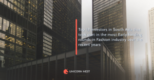 Top 12 investors in South Asia that took part in the most Early funding rounds in Fashion industry over the recent years