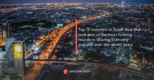 Top 15 investors in South Asia that took part in the most funding rounds in Sharing Economy industry over the recent years