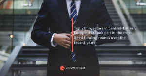 Top 20 investors in Central-Eastern Europe that took part in the most Seed funding rounds over the recent years