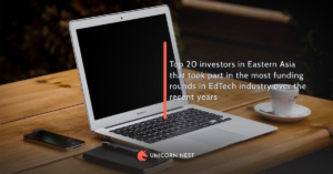 Top 20 investors in Eastern Asia that took part in the most funding rounds in EdTech industry over the recent years