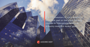Top 20 investors in Latin America that took part in the most funding rounds in Telecommunications industry over the recent years