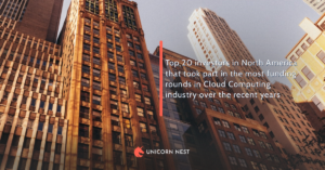Top 20 investors in North America that took part in the most funding rounds in Cloud Computing industry over the recent years