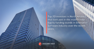 North America's top 20 investors that took part in the most Private Equity funding rounds in Enterprise Software industry over the recent years