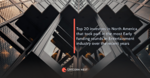 Top 20 investors in North America that took part in the most Early funding rounds in Entertainment industry over the recent years