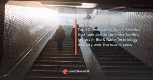 Top 20 investors in North America that took part in the most funding rounds in Bio & Nano Technology industry over the recent years