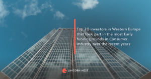 Top 20 investors in Western Europe that took part in the most Early funding rounds in Consumer industry over the recent years