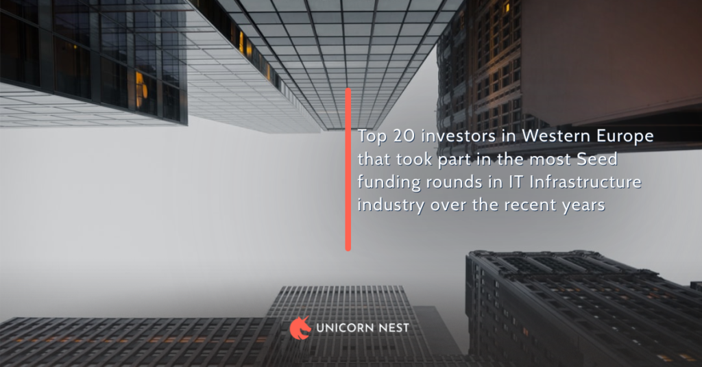 Top 20 investors in Western Europe that took part in the most Seed funding rounds in IT Infrastructure industry over the recent years