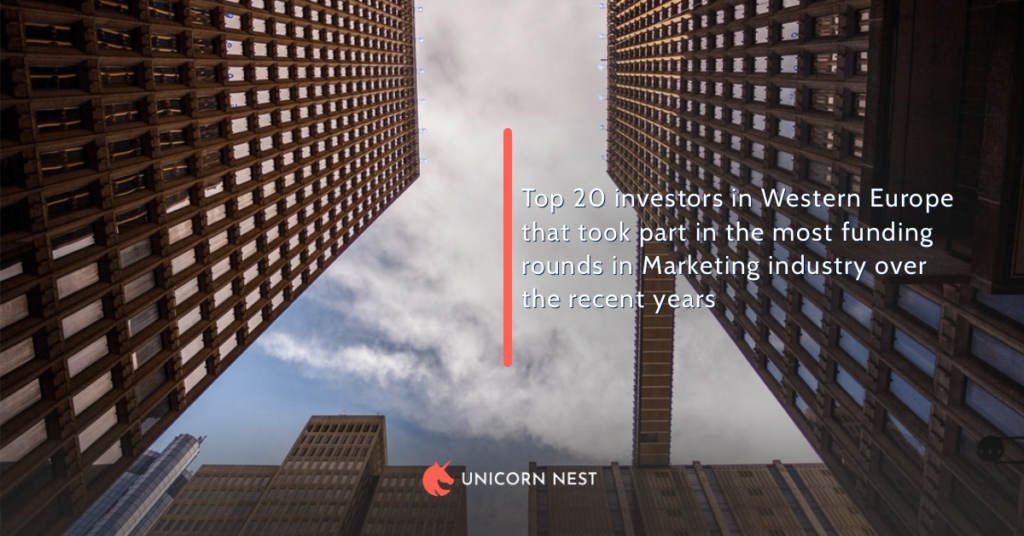 Top 20 investors in Western Europe that took part in the most funding rounds in Marketing industry over the recent years