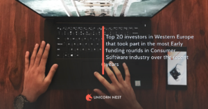Top 20 investors in Western Europe that took part in the most Early funding rounds in Consumer Software industry over the recent years