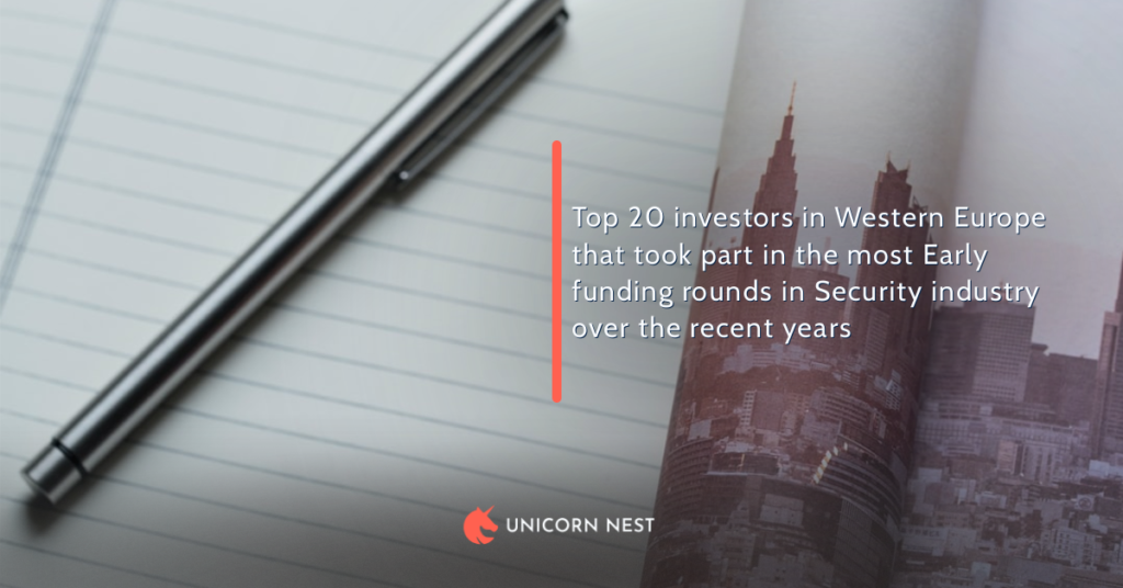 Top 20 investors in Western Europe that took part in the most Early funding rounds in Security industry over the recent years