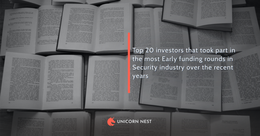Top 20 investors that took part in the most Early funding rounds in Security industry over the recent years