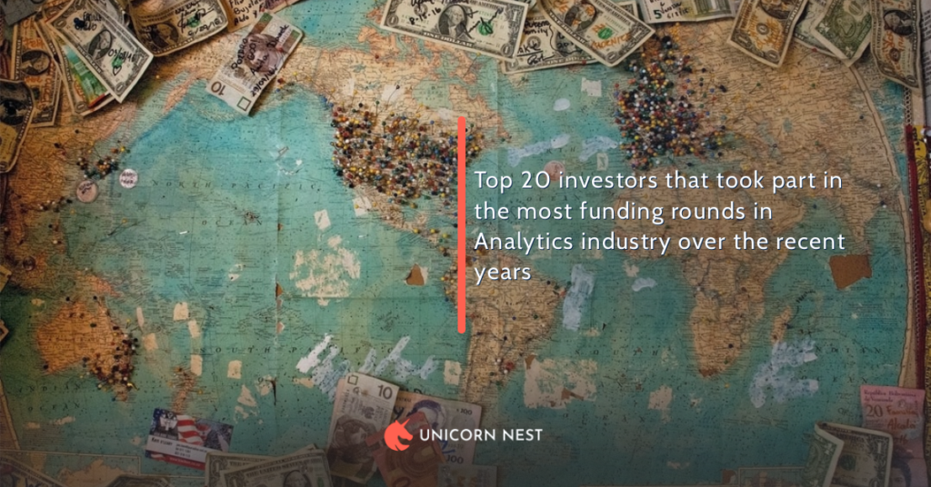 Top 20 investors that took part in the most funding rounds in Analytics industry over the recent years