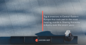 Top 6 investors in Central-Eastern Europe that took part in the most funding rounds in Sharing Economy industry over the recent years