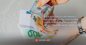 Top 6 investors in Latin America that took part in the most funding rounds in Wellness/Personal Health industry over the recent years