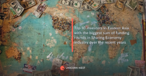 Top 10 investors in Eastern Asia with the biggest sum of funding rounds in Sharing Economy industry over the recent years