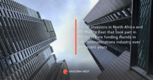 Top 10 investors in North Africa and the Middle East that took part in the most Late funding rounds in Telecommunications industry over the recent years
