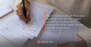 Top 11 investors in North Africa and the Middle East with the biggest sum of Seed funding rounds in Wellness/Personal Health industry over the recent years