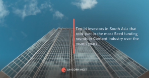 Top 14 investors in South Asia that took part in the most Seed funding rounds in Content industry over the recent years