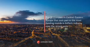 Top 18 investors in Central-Eastern Europe that took part in the most funding rounds in EdTech industry over the recent years