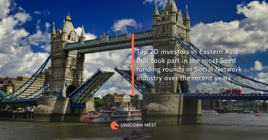 Top 20 investors in Eastern Asia that took part in the most Seed funding rounds in Social Network industry over the recent years