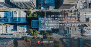Top 20 investors in North Africa and the Middle East that took part in the most funding rounds in Entertainment industry over the recent years