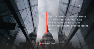 Top 20 investors in North America that took part in the most Late funding rounds in Bio & Nano Technology industry over the recent years